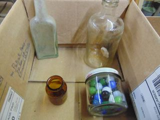 Vintage Jars and Marbles