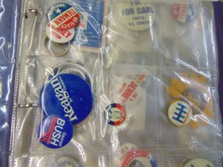 Binder Full of Miscellaneous political Pinbacks