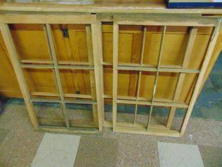 4   6 pain Window Frames   No Glass