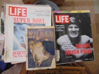 large lot of life Magazines   60s    70 s