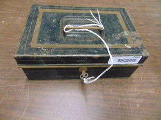 Metal lock Box with key