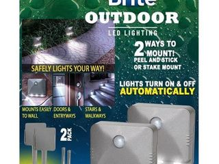 Trisales Marketing 250348 Sensor Brite Outdoor Wireless Motion Activated lED lighting   Pack of 2