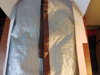 grey   brown tarp 16 foot w x 20 foot l