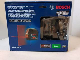 Bosch self leveling cross line laser with Plumb points 65 ft range