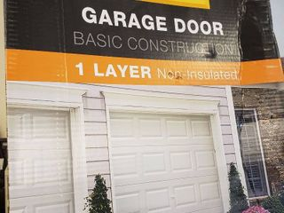 Copay Garage Door Basic construction one layer non insulated white no windows short panel 8 ft W x7 ft H