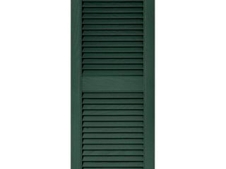 Builders Edge 14 5W in  louvered Vinyl Shutters