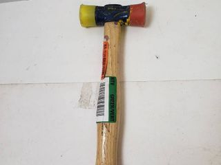 Mallet Genuine Hickory handle yellow and red mallet