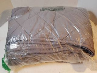 Gray quilted weighted blanket Queen size