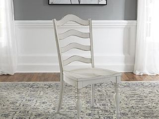 Magnolia Manor Antique White ladder Back Side Chairs  Set of 2  Retail 359 99