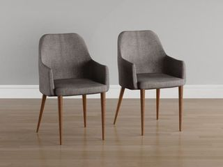 Carson Carrington Pori Midcentury Modern Fabric Dining Chair  Set of 2  Retail 195 49