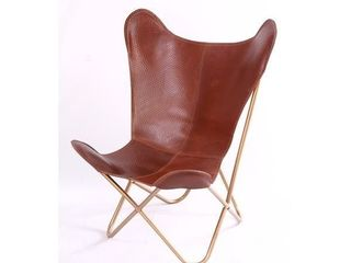 Chestnut Hammered Butterfly Chair  Retail 262 49
