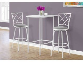 White Top Metal 24 inch x 36 inch Space Saver Bar Table  Retail 114 49
