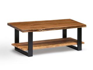 Alpine 48  Natural live Edge Wood Coffee Table  Natural  Retail 565 49