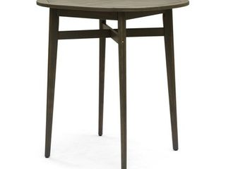 Stamford Outdoor Rustic Acacia Wood Bar Table with Slat Top by Christopher Knight Home  Retail 199 49