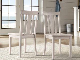 White  Oak Slat back Dining Chairs  Set of 2  Retail 88 49