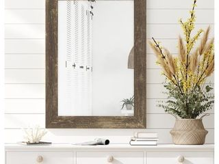The Gray Barn Riviera Farmhouse Brown Mirror  Retail 193 99