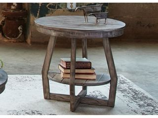 The Gray Barn Rosings Park Grey Wash Round End Table  Retail 239 99