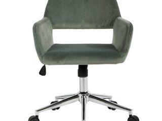FurnitureR Multi Colors Velvet Fit up Office Chair  Ross Green
