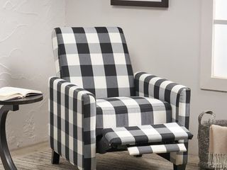 Foxhill Contemporary Fabric Upholstered Push Back Recliner by Christopher Knight Home  Retail 242 49