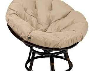Maries Outdoor Papasan Swivel Chair with Water Resistant Cushion by Christopher Knight Home  Retail 187 99