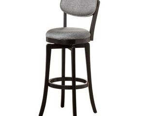 The Gray Barn Chatterly Black With Slate Fabric Swivel Counter Stool  Retail 153 99