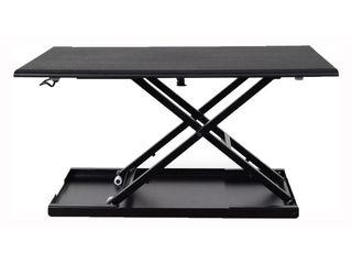 luxor lVlUP32 BK Pneumatic Adjustable Desktop Desk  Retail 127 99