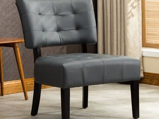 Roundhill Blended leather Tufted Accent Chair with Oversized Seating  Multiple Colors Available