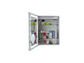 lED lit Medicine Cabinet with Mirrors  Defogger  and USB Outlets  Retail 494 99