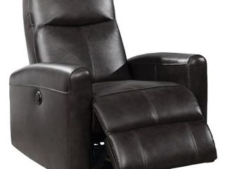 Eli Contemporary leather living Room Power Recliner with lumbar Massage  Retail 535 49