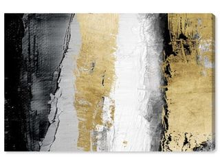 Oliver Gal  Envision and Elevate Gold  Abstract Wall Art Canvas Print   Gold  Black  Retail 207 49