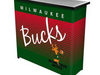 Milwaukee Bucks Hardwood Classics NBA Portable Bar w Case  Retail 216 88