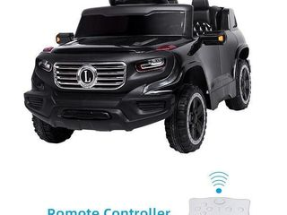 Electric Car Single drive Children Car with Battery Pre Programmed Music and Remote control Black  Retail 125 49