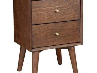 Carson Carrington longyearbyen 20 inch Mid century 2 drawer Nightstand  Retail 154 49