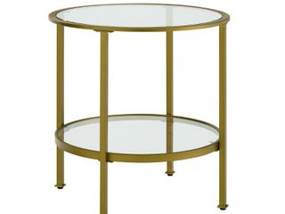 Aimee Glass Side Table  Retail 132 29