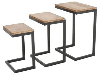Tohono Firwood 3 piece Nesting Table Set by Christopher Knight Home  Retail 124 49