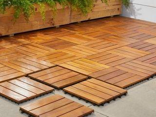 Vifah Premium Plantation Teak 4 slat Deck Tiles  Box of 10