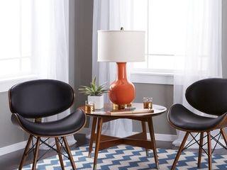 Corvus Madonna Mid century Walnut and Black Finish Accent Chair  Retail 115 99