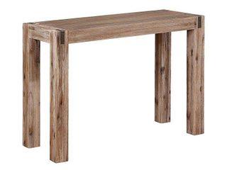 Woodstock Acacia Wood with Metal Inset Media Console Table  Retail 219 99