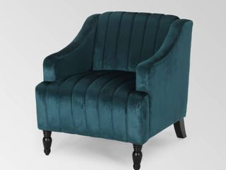 Carleson Glam Velvet Club Chair by Christopher Knight Home  Retail 291 49
