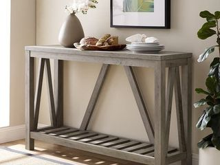 The Gray Barn Holyhead Handmade long Plank Barnwood Console Table  Retail 169 99