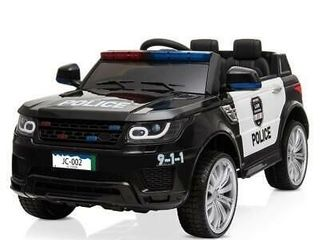 12v Kids Police Ride on SUV Car Toys 3 Speed Music Sirens