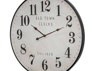 Old Town Clocks Vintage Oversized Metal Wall Clock   31  Retail 127 49