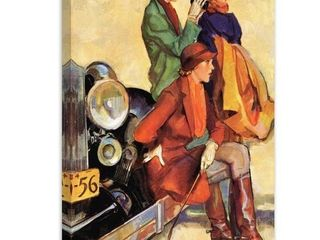 Marmont Hill   Handmade Women in Riding Habits Painting Print on Canvas  Retail 218 49