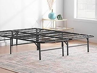 linenspa 14 Inch Folding Metal Platform Bed Frame   13 Inches Of Clearance  Twin