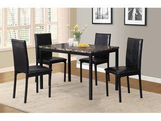Citico 4 Piece Metal Dinette chairs Set   Black  Retail 245 99