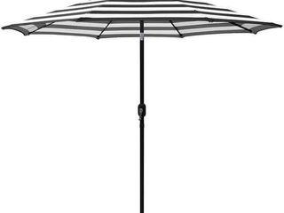 Amada 9 Ft Aluminum Patio Umbrella with Tilt   Crank  Base Not Included  Retail 86 49