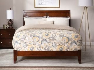 Copper Grove leonding Queen Traditional Walnut Bed no headboard just side rails