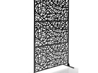 Free Standing laser Cut Metal Screen Panel Privacy Stand  6ft x 4ft  Retail 251 99