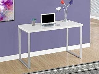 Computer Desk 48 l White Silver Metal  Retail 189 99