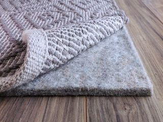 FiberSoft Extra Thick 100  Felt Rug Pad for All Floors   Grey  Retail 82 49